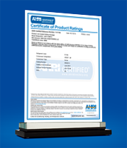 AHRI Certificate of Product Ratings - Ref. No. 7117193